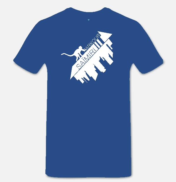 T-shirt bleu roi