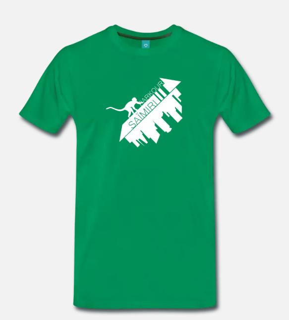 T-shirt vert Saïmiri Parkour